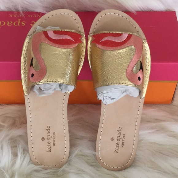 3b44cfe51875 Kate Spade Iggy Flamingo Sandals